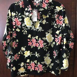 Kensie floral blouse - large